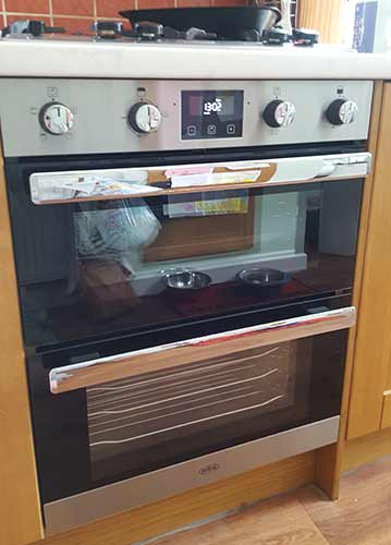 New electric cooker installed