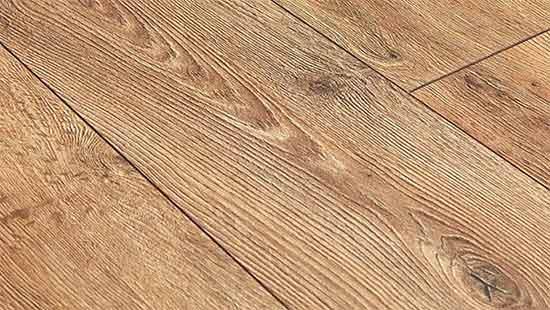 Section of oak engineered flooring