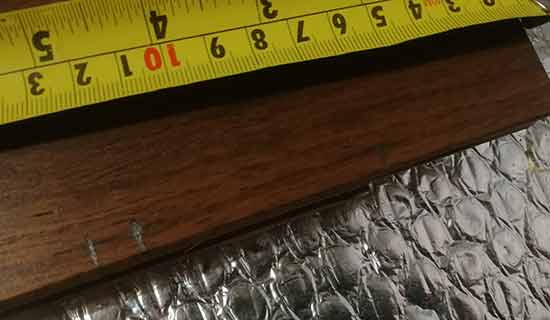 Mark length to cut board to