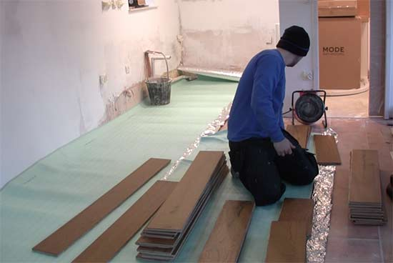 Unpack and layout all of your flooring
