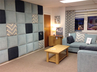 Multi fabric wall panel