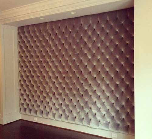 Headboard style wall covering