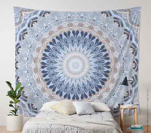 Large fabric wall covering