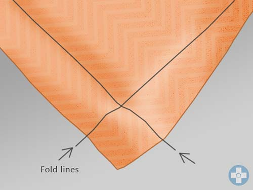 Marking folds on fabric