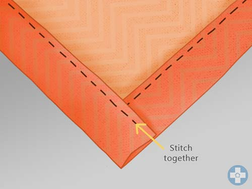 Stitch remaining edge