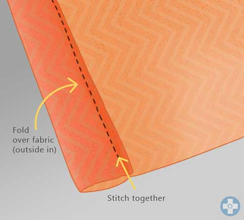 Stitching pocket in fabric