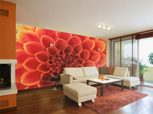 How to make a feature wall using a variety of materials for Bright wallpaper for walls