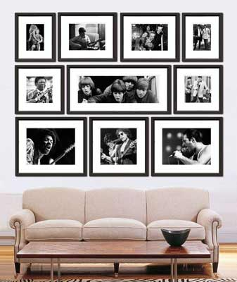 Modern picture feature wall
