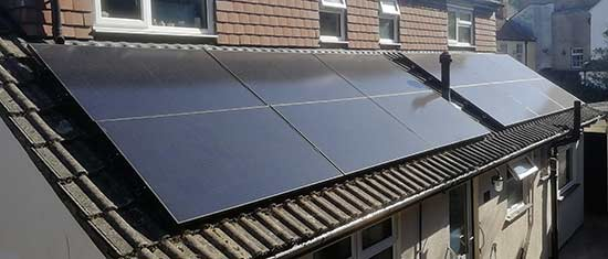 Solar array installed onto property