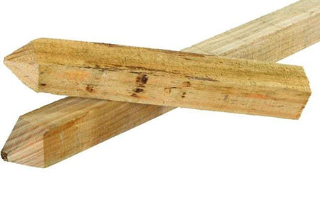 Fence post marking stakes