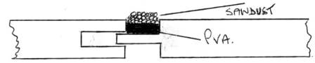 Diagram of a filled floorboard