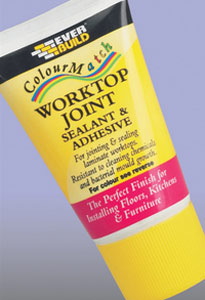 Worktop joint colour match sealant and adhesive