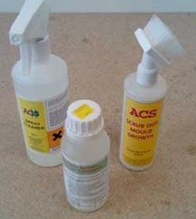 Use an anti-mould cleaner on the mould caused by your leak