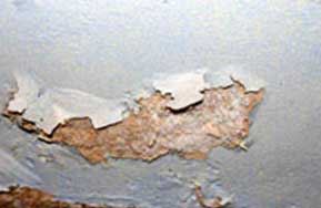 Water leaks can wash salts out of your brickwork and into your plaster
