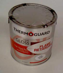 Oil based fire retardant paint