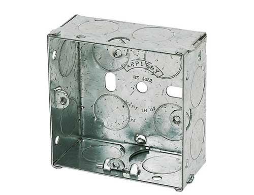 Single or 1 gang metal back box