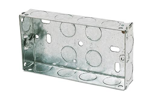 Double or 2 gang metal back box
