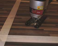 Jig saw in place ready for cutting