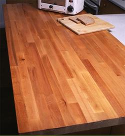Kitchen wooden worktop