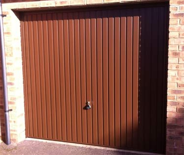 Standard up and over garage door