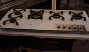 Measure gas hob accurately