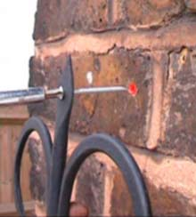 Attaching to brick walls - screw the bracket to the wall