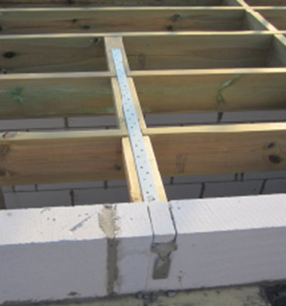 Joist strap or joist restraining bar