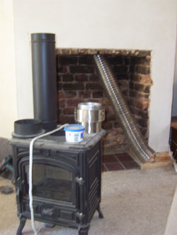 Flue liner all the way down