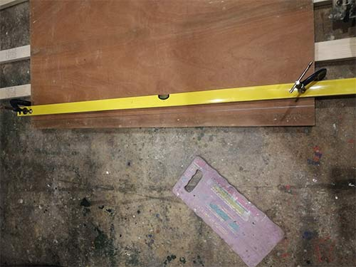 Cut workbench worktop to correct size