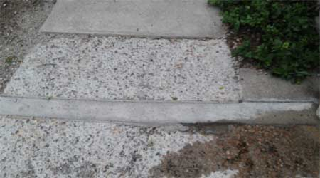Freeze thaw damage to concrete