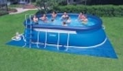 Large above ground inflatable pool