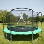 Trampoline with side netting