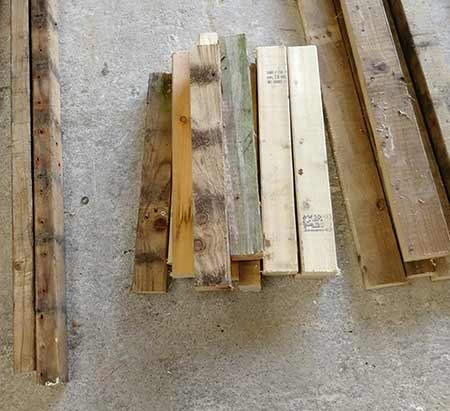 Cut 12x timbers to 500mm in length