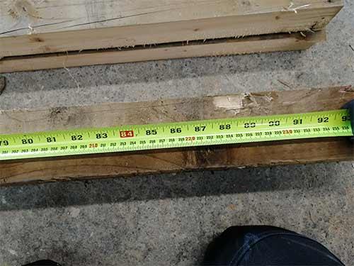 Measure and cut horizontal timbers to length
