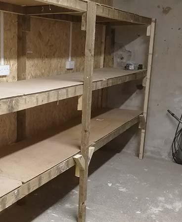 DIY timber workshop storage unit