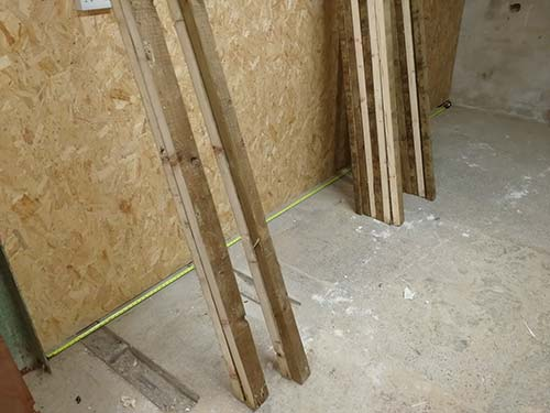 6x2 timbers cut down to 3x2