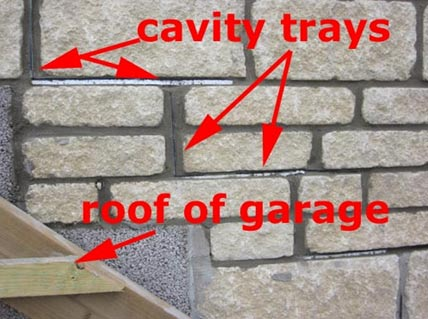 Weep holes for cavity tray