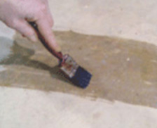 Applying epoxy sealer