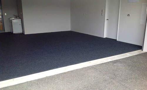 Carpet laid on to garage floor