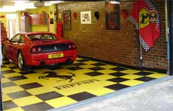 Garage floor tiles with rigid plastic floor tiles