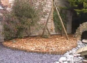 Rope Swing Finished and Bark Chippings laid