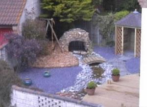 Finished garden design after complete garden makeover