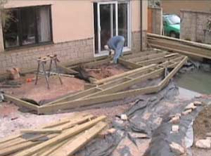 The Frame for the Decking