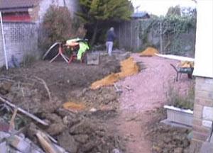 Groundwork started for complete garden makeover