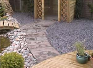 Path Stream, Bridge, Deck, and Shingle covering