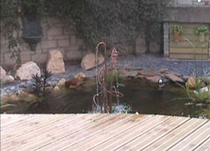 Copper Water Feature from the Deck