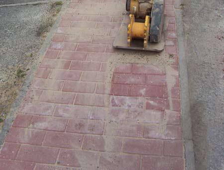 Brick paving pathway