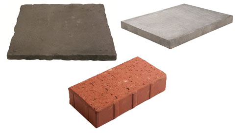 Three of the most common paving materials