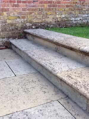Paving slab steps