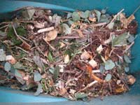 Finely chopped wood chips are easy to dispose of
